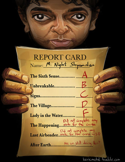 Report card of M Night Shyamalan movies