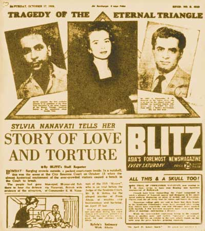 The love triangle of Mr.Nanawati, Sylvia Nanawati and Prem Ahuja - Coverage by Blitz