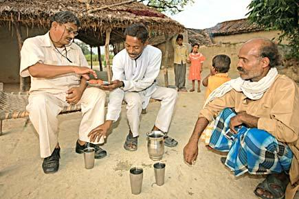 Lal bihari with his relatives, the same family which illegally grabbed his land