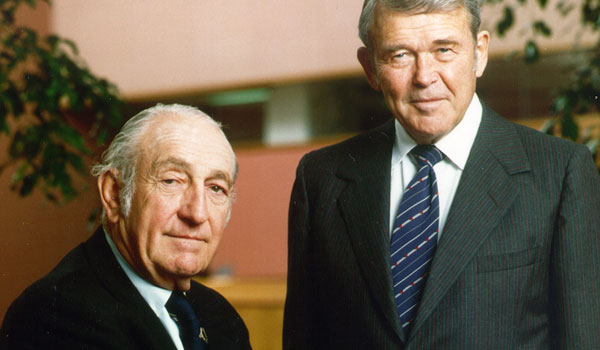 David Packard (L) and Bill Hewlett (R), the founders of HP