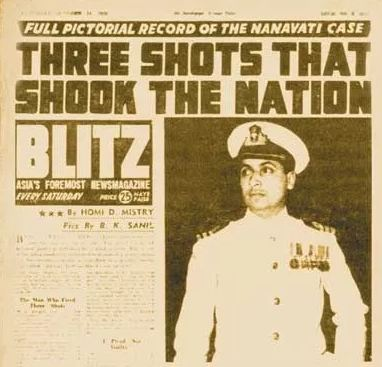 Blitz magazine initial coverage of the incident, Movie Rustom - Mythical India