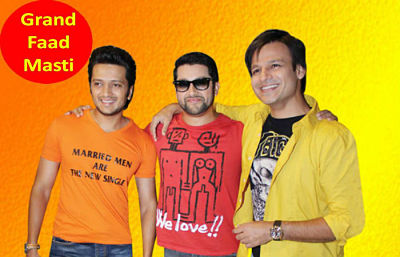 Star Cast of Grand Masti - Ritiesh, Aftab and Vivek. The movie was directed by Indra Kumar