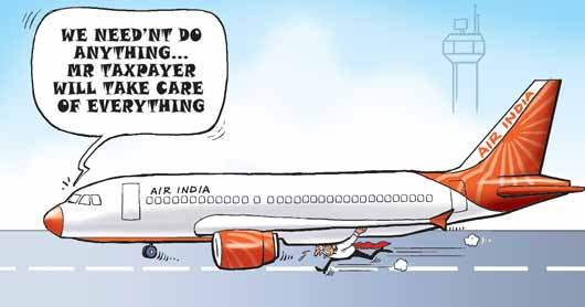 Cartoon on Air India