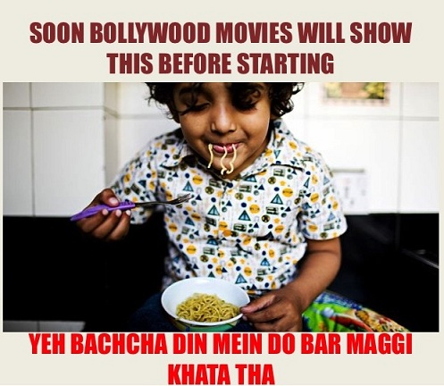 Funny meme on maggi ban and its hazardous effects