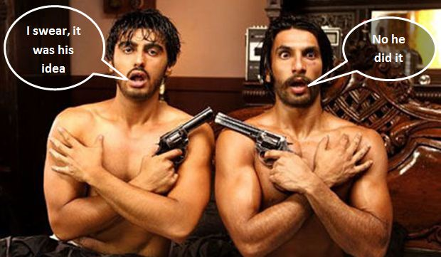 Arjun Kapoor and Ranveer Singh in apology mode