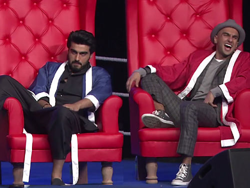 Arjun Kapoor and Ranveer Singh at AIB knockout