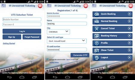 Unreserved Ticketing System app