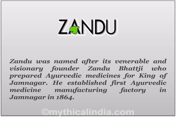 Story of origin of Zandu Brand name