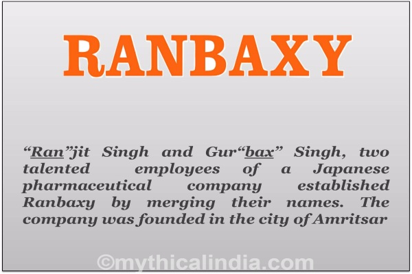 Story of origin of Ranbaxy Brand name