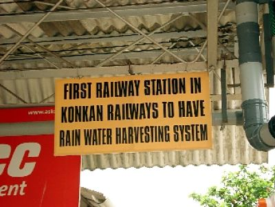 Ankola railway station declaring establishment of Rain water harvesting