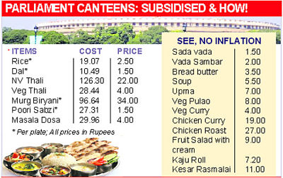 Subsidized prices on the menu of parliamentary canteen