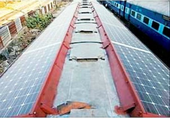 Rail wagons fitted with Solar panels