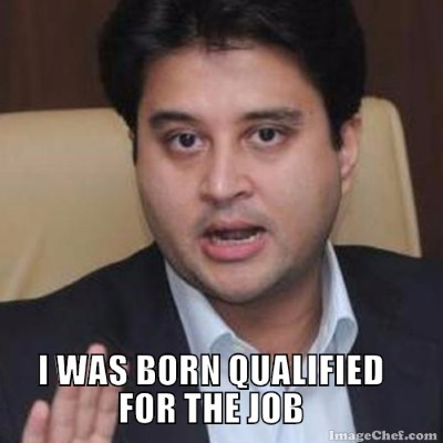Jyotiraditya explains why he is best for the job - meme