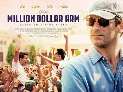 Poster of Million Dollar Arm movie with Jon Hamm