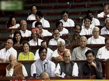 MPs laughing in unison