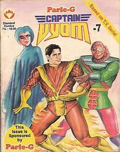 Captain Vyom comic books published by Diamond comics