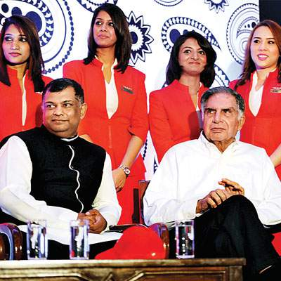 Ratan Tata with Tony Fernandes at Air Asia - Mythical India
