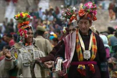 The Banano festival of Drokpas during which they dance-Mythicalindia