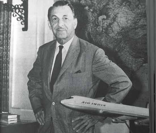 JRD Tata as the chairman of Air India - Mythical India