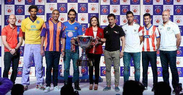 Neeta Ambani at ISL press conference