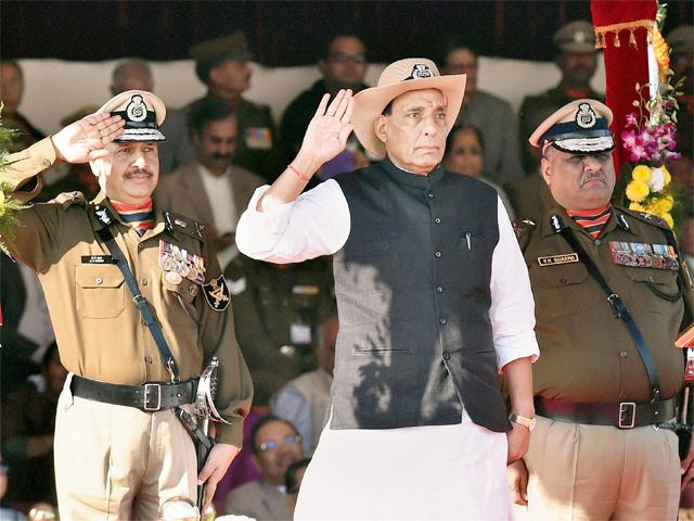 Home Minister Rajnath Singh at BSF raising day - Mythical India