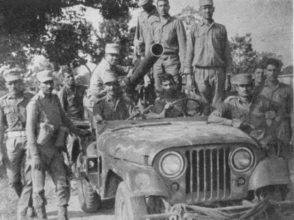 Indian soldiers on Jeep mounted mounted with RCL gun- Mythical India