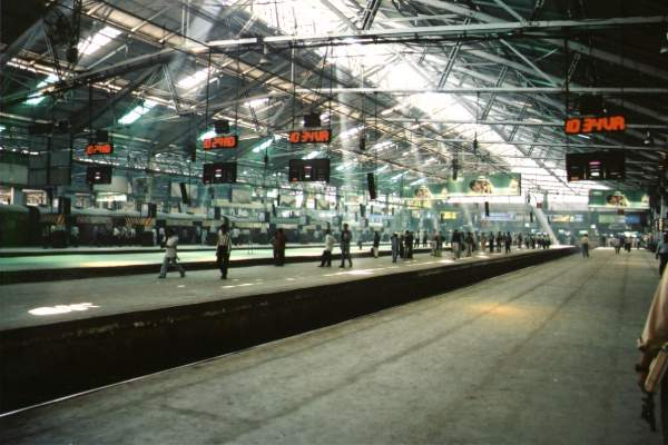 Platforms at CST - Mythical India