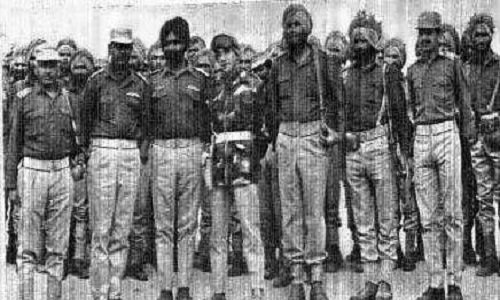 23rd Battalion,Punjab regiment soldiers - Mythical India