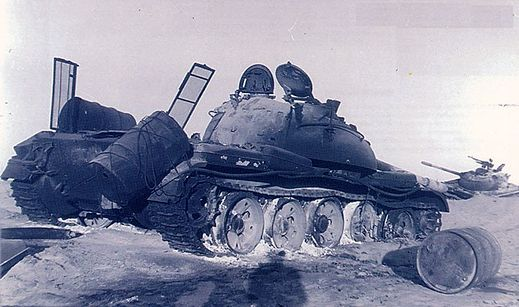 A destroyed T-59 tank at Longewala - Mythical India