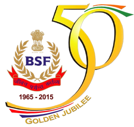 BSF logo reflecting 50 years of formation - Mythical India