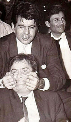 Dilip Kumar with Raj Kapoor and Dev Anand