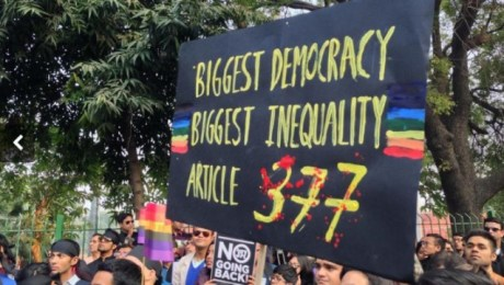 Protest against article 377 which bans homosexuality - Mythical India