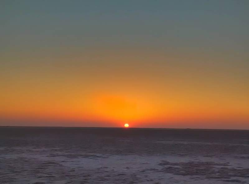 Sunset at the white desert in Kutch - Mythical India