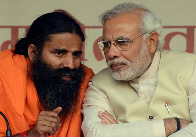 Baba ramdev with PM Narendra Modi, BJP - Mythical India