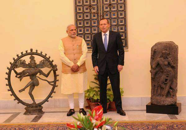Australian PM Tony Abott and PM Narendra Modi, Ancient artifacts returned, India Pride Project - Mythical India