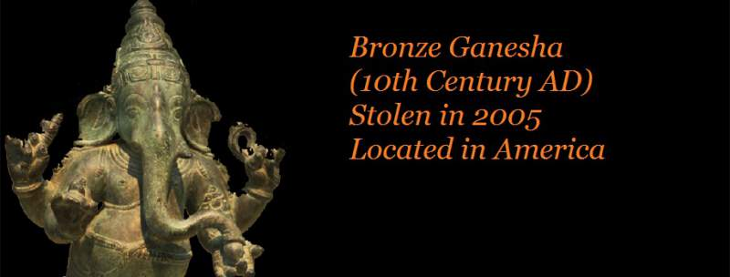Bronze idol of Ganesha has been located and work on its return is in progress - Mythical India