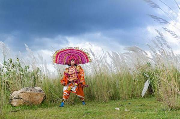 Chhau dance captured by Arghya Chatterjee at Purulia district - Mythical India