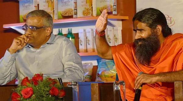 Ramdev with Kishore Biyani of Future group - Mythical India