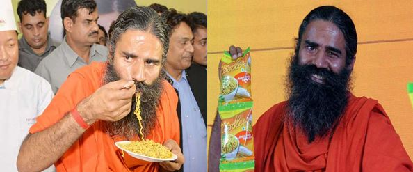 Baba Ramdev promoting Atta noodles launched by Patanjali - Mythical India