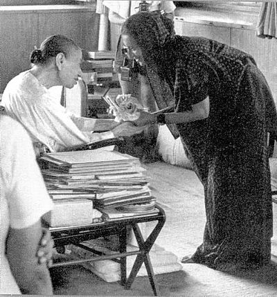 Birth anniversary of Mirra Alfassa known to her followers as The Mother who was the spiritual collaborator of Sri Aurobindo. She came to Sri Aurobindo's spiritual retreat in Pondicherry in 1914. During WW-1, she spent most of her time in Japan where she met Rabindranath Tagore. Finally she returned to Pondicherry and stayed there from 1920. After 1926, when Sri Aurobindo retired, she founded her ashram (Sri Aurobindo Ashram), with a few disciples and became the spiritual guide of the community.