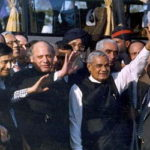 Mr. Vajpayee travels to Lahore on the inaugural run of the bus between New Delhi and Lahore.