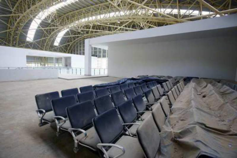 Empty seats with Dust at Jaisalmer Airport, Ghost Airport - Mythical India