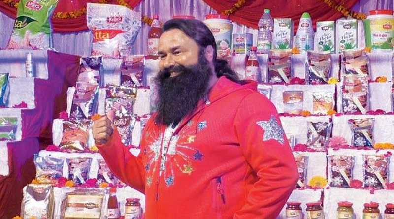 Gurmeet Ram Rahim Singh Ji at the launch of his product line - Mythical India