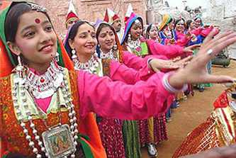 Dangi folk Dance,Himachal Pradesh,Harvest season in temple of Naina devi - Mythical India