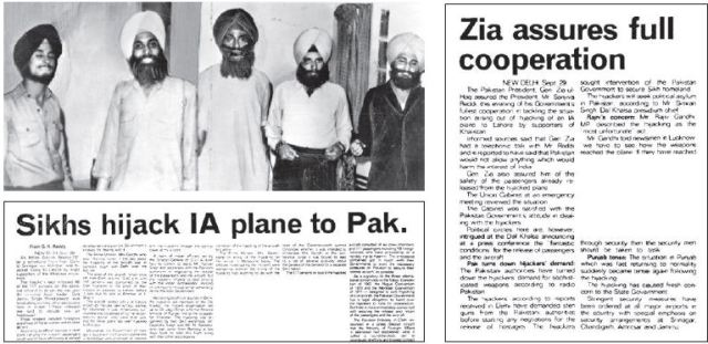 5 Sikh Terrorists who hijacked IC423 filght,september 29, 1981,Dal Khalsa- Mythical India