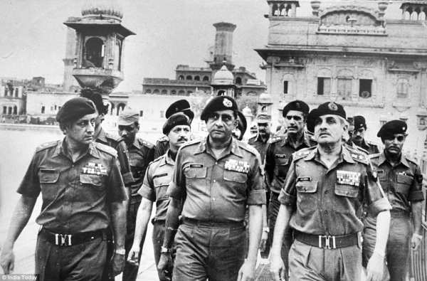 Army officers walking after Operation blue star in Golden Temple - Mythical India