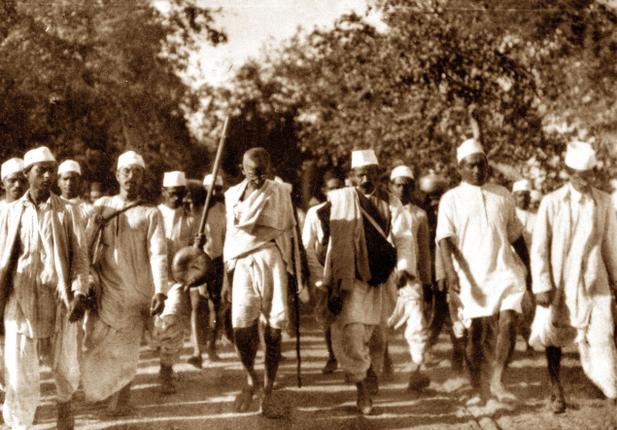 Dandi March or the Salt March was an act of civil disobidience against the British law which introduced Tax on salt production. The law deemed all sea-salt reclaimation activities done by Indians illegal. Mahatma Gandhi initiated Dandi March from Sabarmati ashram in Ahmedabad and continued walking for 24 days to reach Dandi. The march ended on April 6th - Mythical India