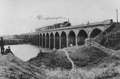 First railway line opened in India, from Bori Bunder, Bombay to Thane.