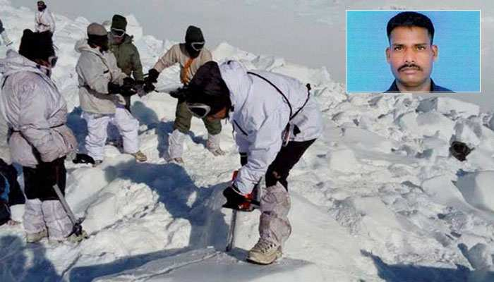 soldiers cutting through snow, insat Lance naik Hanumanthappa - Mythical India