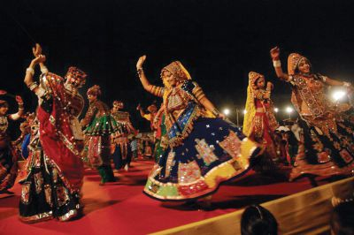 Mythical India culture navratri